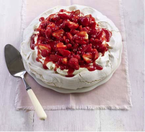 strawberry-pavlova